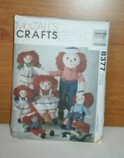 "Vintage Raggedy Ann Andy Pattern For 10 15 20 25"" Doll & Clothes"