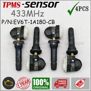 4Pcs TPMS Tire Pressure Sensor For Ford B-MAX JK8 Focus III F-150 Ranger 433MHz