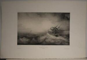 CAPE HORN CHILE 1840 LAUVERGNE UNUSUAL ANTIQUE ORIGINAL LITHOGRAPHIC VIEW