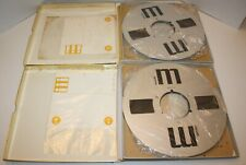 """Maxell UD 35-180 10.5"""" Reel to Reel Tape 1/4"""" Lot of 2 Pre-Recorded Classic Rock"""