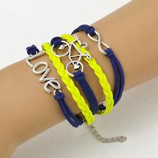 Fashion Hand-woven Wristband Infinity Love Bicycle Friendship Bracelet 17-22CM