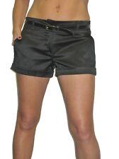 ICE (1266) Ladies Shine Satin Hot Pants Shorts Free Belt Sizes 8-16