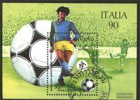 Laos Block130 (kompl.Ausg.) gestempelt 1990 Fußballweltmeisterschaft, Italien