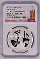 2017 Great Britain 1 oz PROOF Silver Britannia 2£ | NGC PF70 UC | In NGC top 205