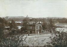 Cliché du vieux Paris 12eme Maison eclusier pont austerlitz 1900