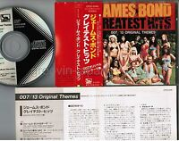 James Bond Greatest Hits 007 JAPAN CD CP32-5046 2A1 TO w/OBI+INSERT 1985 issue