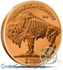 2014 (LOT OF 5) COPPER ZOMBUFF ZOMBUCKS 1 OZ COPPER AMERICAN BUFFALO DESIGN