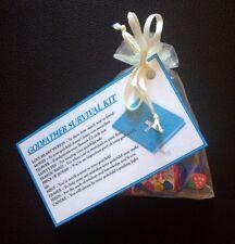 GODFATHER Survival Kit - GIFT For GODPARENTS CHRISTENING Baptism THANK YOU GIFT
