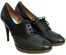 NEW DIESEL ITALY MADE 6 8.5 39  $700 LEATHER BLACK ANKLE BOOTS WOMEN HEELS