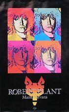 Led Zeppelin Robert Plant 1990 Manic Nirvana Original Promo Poster