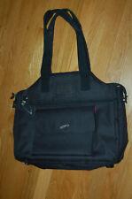 Lynne Tauchen JetPac Tote Shoulder Bag Black w Mauve Lining Nice!