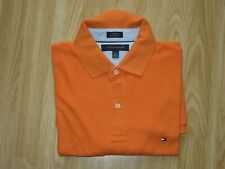 TOMMY HILFIGER Mens Orange Cotton Short Sleeve Polo T-Shirt Top Size L Great