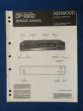 KENWOOD DP-990D CD PLAYER SERVICE MANUAL ORIGINAL FACTORY ISSUE GOOD CONDITION