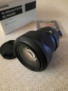 SIGMA 18-200 mm f3,5/5,6 DC macro OS HSM Canon
