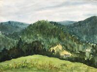 Hildegard Chartée Isergebirge Josefuv Dul Sudeten Tschechien Aquarell Landschaft