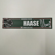 KABINENSCHILD #4 HAASE - AUGSBURGER PANTHER - DEL 19-20