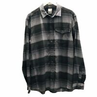 The North Face Mens Stayside Chamois Shirt Gray Plaid Long Sleeve Pocket L New