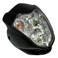 MOTORCYCLE AURA UNIVERSAL FAIRING HEADLIGHT WITH INDICATORS STREETFIGHTER BLACK