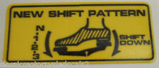 HONDA C50 C70 C90 SHIFT PATTERN CAUTION WARNING DECAL
