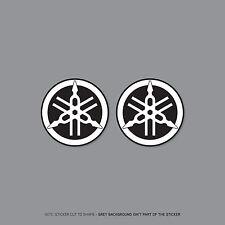 SKU2183 - 2 x Yamaha Tank Panel Round Emblems Decals Stickers - 40mm