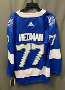 Victor Hedman #77 Signed Tampa Bay Lightning Jersey Sz 52 Adidas JSA COA AUTO