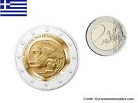 2 Euros Commémorative Grèce Union Thrace et Crète 2020 UNC