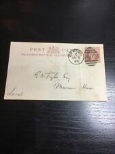 Victorian Cover Postmarks stationery 1/2d. postcards, Oxford 1889