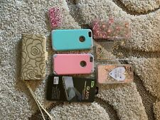 Iphone 6 Cases and Temp Glass Screen Protector-lot of 7 Cases/1 Protector