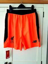 Liverpool 3rd Shorts 2017 BNWT. Medium. Official NB. Orange Adults Football M.