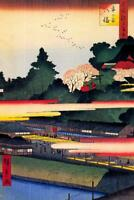 Utagawa Hiroshige Ichigaya Hachiman Shrine Art Print Poster 24x36 inch