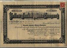 Yellow Jacket Mines Company Stock Certificate Arizona