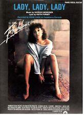 "IRENE CARA ""LADY, LADY, LADY"" SHEET MUSIC-FLASHDANCE-PIANO/VOCAL/GUITAR-1983-NEW"