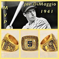 New York Yankees Joe DiMaggio 1941 MVP Ring Size 11