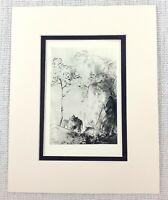 1931 Antique Imprimé Paquet Mule Âne Robert Louis Stevenson Edmund Blampied