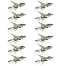 New 12 X Broadhead 3 Blade 100grain Archery Arrow Heads Hunting Points
