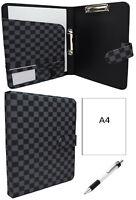 Designer A4 Organiser Document Leather Paper Ring Binder Folder Tablet Gift 503
