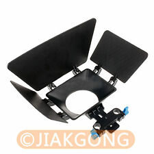 Matte Box Sunshade for 15mm Rail Rod Support DSLR 5DII 60D D90 550D 600D Camera