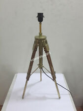 Designer Antique Brass Tripod Table Lamp industrial nautical Vintage  Shade Lamp