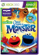 Sesame Street Once Upon a Monster XBox 360 Kinect Game *in Good Condition*