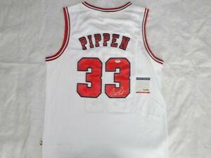 SIGNED Scottie Pippen AUTOGRAPHED Chicago Bulls NBA JERSEY + COA + PSA
