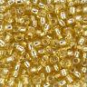 Toho Japanese Seed Beads 5.5mm Size 3/0 Silver Lined Light Topaz 19.5g (L97/1)
