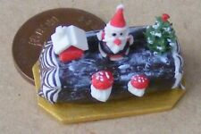1:12 Scale Christmas Chocolate Log Dolls House Miniature Cake Accessory HB