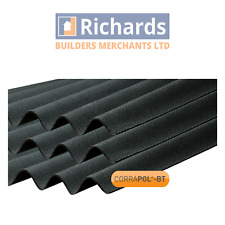 Corrugated Bitumen Roofing Sheets | Ridges | Fixings | Black, Green, Red, Brown