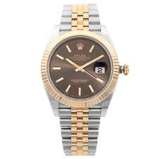 Rolex Datejust 41 Steel 18K Rose Gold Jubilee Chocolate Dial Mens Watch 126331