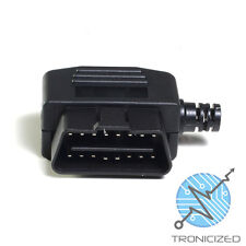 OBDII OBD2 16 PIN CONNECTOR PLUG MALE SOLDERABLE Side cable Exit ~ UK 1stClass