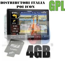 SD CARD NAVIGATORE AUTORADIO CINESI 2 DIN 4 GB MAPPA EUROPA 09/18 VELOX 09/2018
