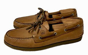 NEW!! Sperry Top-Sider Authentic Original A/O Sahara Leather Boat Shoes  Men 12