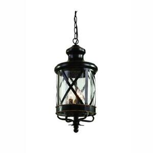Carriage House 4-Light Outdoor Oiled Rubbed Bronze Hanging Lantern by Bel Air L.