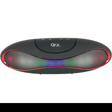 QFX Portable Rechargeable Bluetooth Speaker With Microphone