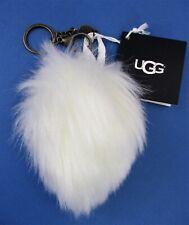UGG Keychain Wren Pompom Purse/Bag Charm White Fur Pompom Furry Ball